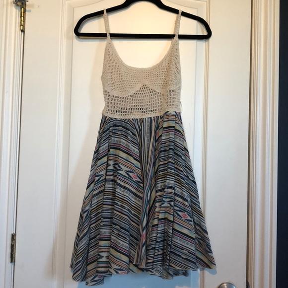 Surf Gypsy Dresses & Skirts - Never worn short boho dress with lace up back